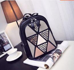 $enCountryForm.capitalKeyWord NZ - Women Backpack 2018 new fashion rivets High Quality Leather Small backpack School Bag for teenages girls Brand Designer Back Bag