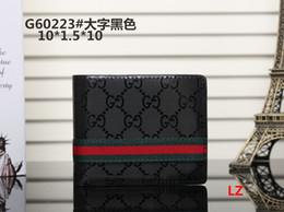 Ladies siLk beLts online shopping - 2018 Male luxury wallet Casual Short designer Card holder pocket Fashion Purse wallets for men handbags wallets purse tags A04