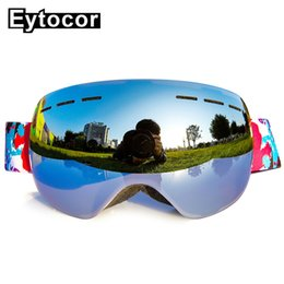 2dc0b475ce0 Blue ski goggles online shopping - EYTOCOR Professional UV400 Anti fog  Winter Ski Snowboard Glasses Men