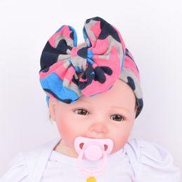 2d284c0938f Colorful Boho NewbornToddler Headband Ribbon Elastic Camouflage Print Baby  Headdress Kids Hair Band Girl Bow Knot Christmas Gift