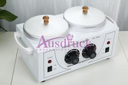 Venta al por mayor de Calentador de cera nuevo DOUBLE pots Calentador Parafina Salon Use Skin Care Spa Machine