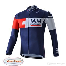 5e916cf49 New Pro team IAM cycling jersey winter thermal fleece bike tops Ropa  Ciclismo long sleeve cycling clothing quickdry MTB Bicycle maillot B214