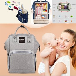 Travel Pillow Free Shipping NZ - Free Shipping Wonzom Fashion Maternity Mummy Nappy Bag Brand Large Capacity Baby Bag Travel Backpack Desinger Nursing Diaper Bag Baby Care