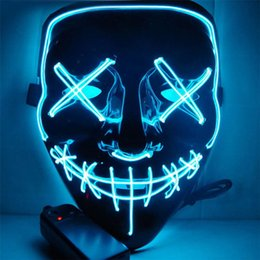 $enCountryForm.capitalKeyWord Australia - Ghost Halloween Led Luminous Mask Horror Grimace Bloody Wire DJ Glowing Full Face Mask For Christmas Carnaval Party Club Gift