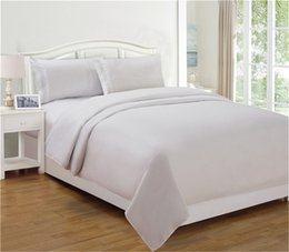 Wholesale Thuja Home Textile High Quality Polyester Flat Sheet Queen King Pillow Sham Bedding Sets Solid Fashion Style White Gray Color