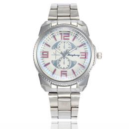$enCountryForm.capitalKeyWord Canada - Best selling fashion blue glass alloy steel belt watch silver suit men's quartz wrist watch