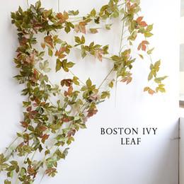 Wedding Fake Ivy Vines Canada - 1PC 2m Artificial Ivy Leaves Grape leaf Sweet potato leaves Flower Vine Home Decor Party Wedding Decoration Fake Plants