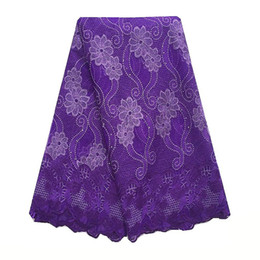Discount purple cord lace fabric - Latest Dresses African Swiss Lace Fabric 2018 High Quality Cord Lace Fabric Royal Blue Purple Lace Fabric For Women Nige