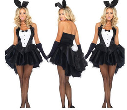 new promopion cute rabbit lady magician tuxedo halloween adults cosplay costume women sexy party fantasia maid waitress dresses