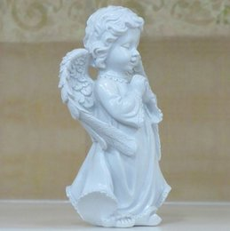 Angels Figures Australia - Pray That The Angels Resin Figures of European Garden Ornaments Home Furnishing Craft Ornament Praying The Little Angel Statue