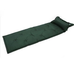 Chinese  Waterproof Automatic Inflatable Self-Inflating Damp Proof Sleeping Pad Tent Air Mat Mattress with Pillow for Outdoor Camping manufacturers