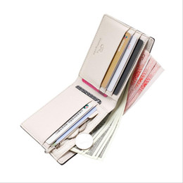 credit card pocket lights UK - Men's PU Leather Business Short Wallets Pocket Card Clutch Bifold Slim Purse Light Coffee Dark Coffee Black Color
