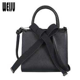 Big Bow Bag Australia - WEIJU Fashion PU Leather Shoulder Bag Ladies Big Bow Handbags Famous Brands Women Totes New Casual Women Bags bolsa feminina