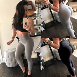 $enCountryForm.capitalKeyWord Canada - Hot Sale Women Yoga Pants High Waist Solid Workout Sport Leggins Fitness Sports Gym Running Yoga Athletic Pants Sport Trousers