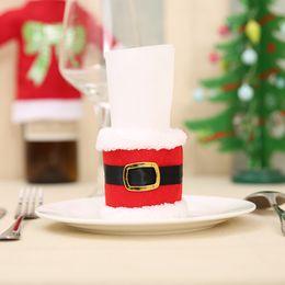 Paper Roll Holders Australia - Christmas Towel Case Roll Paper Xmas Dinner Table Tissue Holder Napkin Paper Box Tableware Ornaments