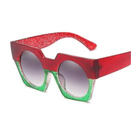 73d5de9f9629 2018 Oversized Square Sunglasses Women Fashion Gradient Lens Sun Glasses  For Women Brand Luxury Black Green Shades UV400 NX