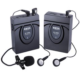 Wireless karaoke microphone for computer online shopping - BOYA BY WM5 Wireless Lavalier Microphone System for Canon D D D2 D3 Nikon D800 Sony Panasonic Camcorders free DHL