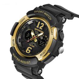 Crianças de luxo esporte relógios sanda marca pulseira de silicone relógio de pulso de presente de natal para as crianças relógio analógico digital genebra saatler saat