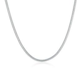Top China Wholesale Fashion Jewelry NZ - High quality 2MM 16-24inches 925 sterling silver snake chain necklace fashion jewelry top sale mix size