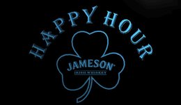 $enCountryForm.capitalKeyWord Australia - LS1285-b-Jameson-Whiskey-Shamrock-Happy-Hour-Bar-Neon-Sign Decor Free Shipping Dropshipping Wholesale 8 colors to choose