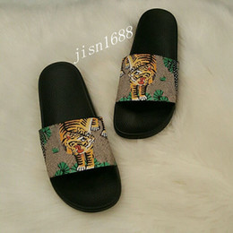 $enCountryForm.capitalKeyWord NZ - green bengal tiger slide sandals mens and womens summer outdoor beach slippers street styles fashion causal flip flops