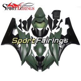 customize motorcycle fairings Australia - Army Green Black Motorcycle Complete Fairing Kit For Yamaha YZF600 R6 YZF-R6 Year 2006 2007 Sportbike ABS Motorcycle Body Kits Customize New