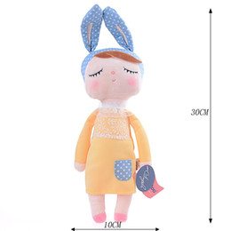 Discount dreams plush - metoo angela METOO Plush Angela Bunny Toys with Package Dreaming Girl Wear Pattern Skirt Stuffed Toys Gifts for Kids Chi