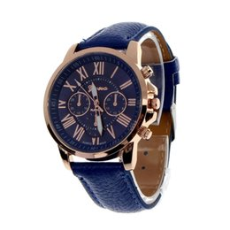 China 2018 Watches Women Casual Roman Numeral Watch For Women PU Leather Quartz Wrist Watch suppliers