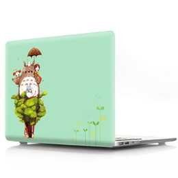 Apple Macbook Wholesale Australia - For Apple MacBook Pro 13 inch CD-ROM Cartoon Printing PC Protective Front and Back A1278 Case