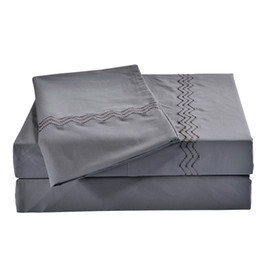 $enCountryForm.capitalKeyWord UK - Queen King Size Duvet Cover Home Textile 100%High Quality Polyester 4pcs Bedding Sets Solid Style Blue White Gray Color Bed Sheet Wholesale