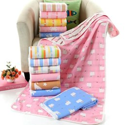 $enCountryForm.capitalKeyWord NZ - 70x140cm Baby Blankets Bath Towels Blankets 6 layers gauze cotton Bath shower towel Infant child quilt Soft and breathable padded hold