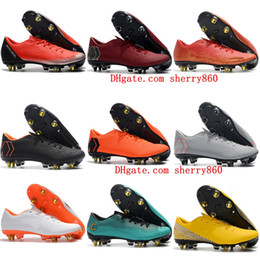46bec1cdc3c 2018 new mens soccer cleats Mercurial Vapor XII PRO SG soccer shoes  mercurial superfly football boots top quality cr7 scarpe calcio outdoor