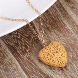 Volcanic lava pendant australia new featured volcanic lava fashion gold plated heart love lava stone necklaces essential oil diffuser volcanic rock pendant necklace women jewelry mozeypictures Gallery