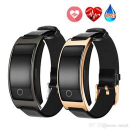 Wrist Band Pedometer Australia - New CK11S Smart Band Blood Pressure Heart Rate Monitor Wrist Watch Bracelet Fitness Bracelet Tracker Pedometer Wristband