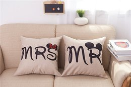 Pillow cases sizes online shopping - MR and MRS Pillowcases Romantic Pillow Case cover for Him or Her Romantic Anniversary Wedding Valentine s Gift Size cm