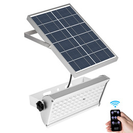 Remote contRolled outdooR lights online shopping - LED Solar light Super Bright LED lm mah Wireless Floodlight Outdoor Waterproof Garden Solar lamp Radar Motio with Remote Control