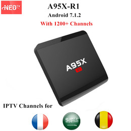 Tv Box 1g Canada - A95X-R1 French IPTV Android TV Box 4K 1G 8G with NEO IPTV France Belgium Arabic PayTV Android 7.1.2 H.265 Smart TV Box A95X-R1