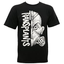 2018 Venta caliente Nueva camiseta TRANSPLANTES Banda media máscara Camiseta Negro S M L XL 2XL NUEVO O-cuello de manga corta Camisetas en venta