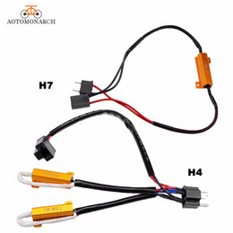 h11 adapter 2019 - AOTOMONARCH H7 LED Decoder Car Lights Bulbs Resistor For H4 H8 H9 H11 9005 9006 Canbus Wire Harness Adapter 50W 8ohm 9-1