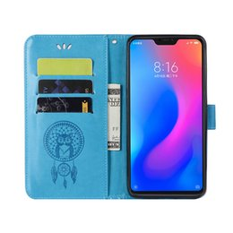 Wholesale For Xiaomi Mi A2 Lite Magnetic PU Leather Flip Wallet Cover Kickstand Case With Card Pocket Cases For Redmi Pro