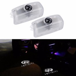 hd lights for car Australia - 2PCS HD brightness car 3D ghost shadow lamp auto camry door logo light bulb welcome projector light for Infiniti