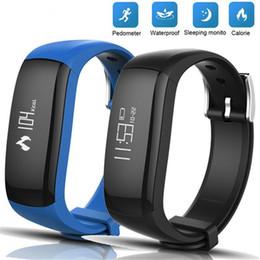 Calorie Tracker Watch NZ - P6 Smart Band Watch Fitness Tracker Calorie Alarm Clock Passometer Waterproof Wristband Step Counter Bracelet PK Fitbits