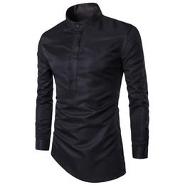 $enCountryForm.capitalKeyWord Canada - 2018 Fashion Mens Shirt Nightclubs Style Oblique Hem Camisa Social Masculina Men Slim Fit Sexy Club Wearing Chemise Homme M-3XL