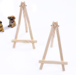mini easel wedding UK - Mini Display Miniature Easel Wedding Table Number Place Name Card Stand 16*9cm 24pcs Wedding Party Favor Decoration