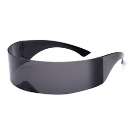 Funny sunglasses online shopping - VBIGER Ladies Mens Black Frame Wrap Sunglasses One Piece Shades Flat Top Novelty Costume Party Funny Trendy Sunglasses