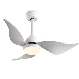 Lights & Lighting Nordic 42 Inch Macaron Ceiling Fans Lamp Modern Simple Living Room Restaurant Remote Control Spiral Three Fan Leaf Ceiling Fans