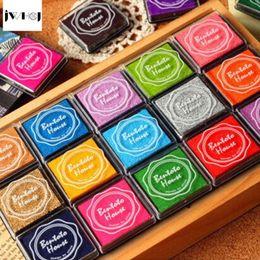 $enCountryForm.capitalKeyWord Australia - 20pcs set colorful 4X4cm square stamp inkpad set Kids toy DIY Handmade Scrapbook Photo Album student Stamp Arts,Craft gift