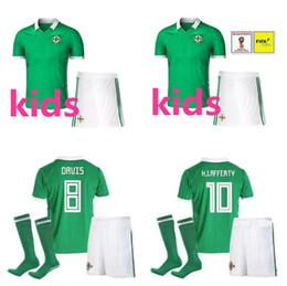 Northern Ireland Kids soccer Jerseys 2018 world cup kids jersey camiseta de  futbol Northern Ireland Football shirts K.LAFFERTY DAVIS McNAIR 8e7f680fc