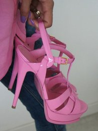 2017 New Summer Shoes Woman Tribute Sandals T-strap Super High Platfom Sandals Designer Slides Woman Sandals Party Classic Shoes