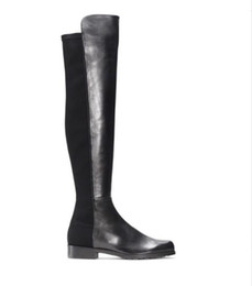 Elastic knEE high boots womEn online shopping - Paris Classic Elastic Boots cm heel Women s Autumn and Winter New Leather Slim Shoes With Slim Legs High long Boots Girls